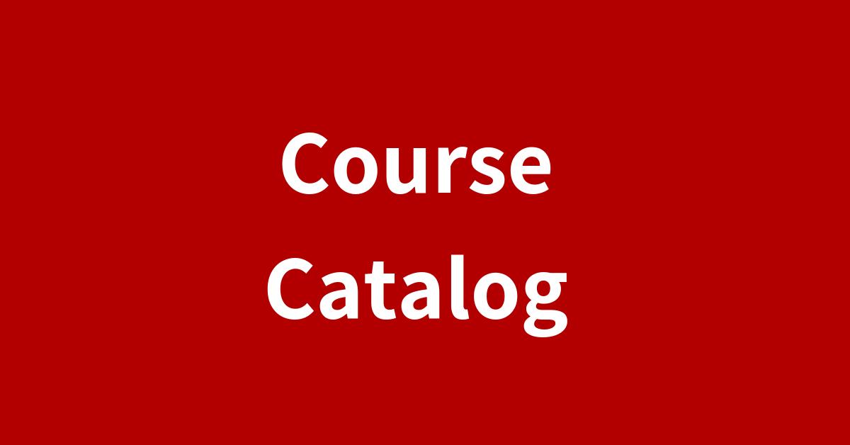 Coure Catalog