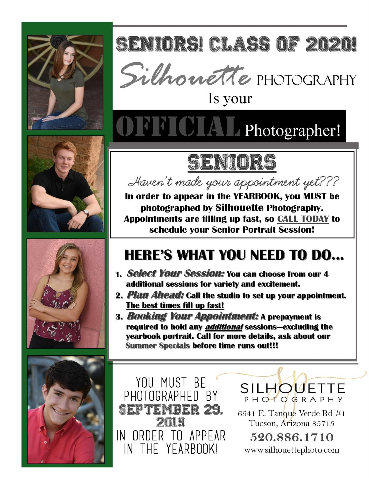 Senior Silhouette advertisement photo