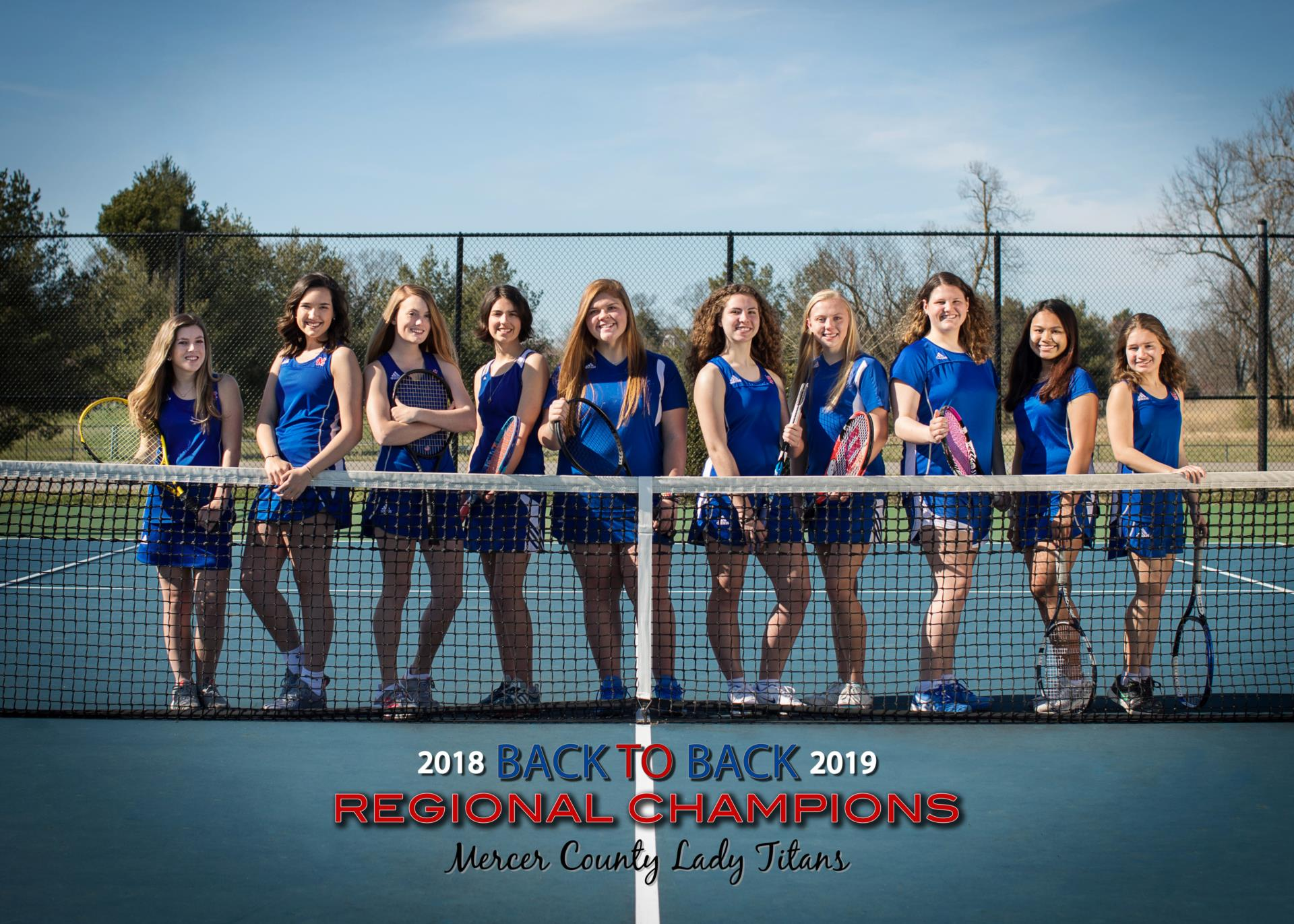 2019 Girls Titan Tennis Team