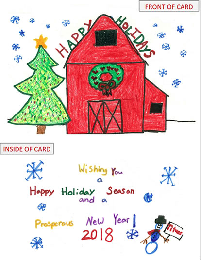 Christmas Card Design Winning Entry