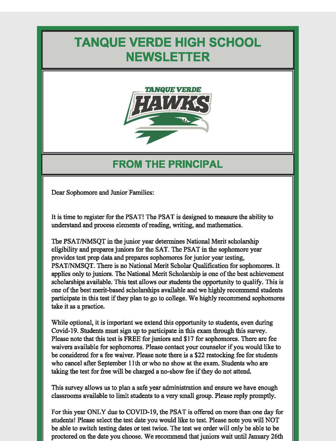 Newsletter Page 1
