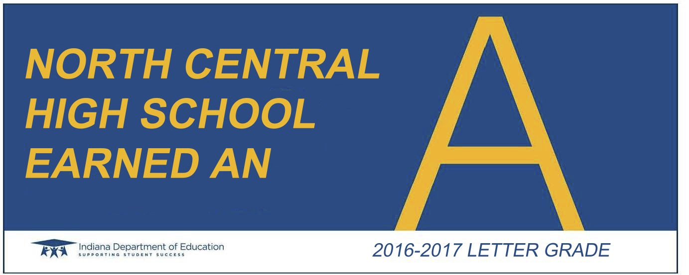 north central high school letter grade banner