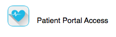 patient portal access button