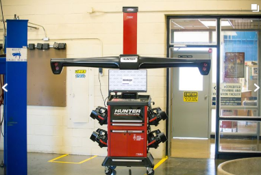 Hunter Wheel Alignment Machine