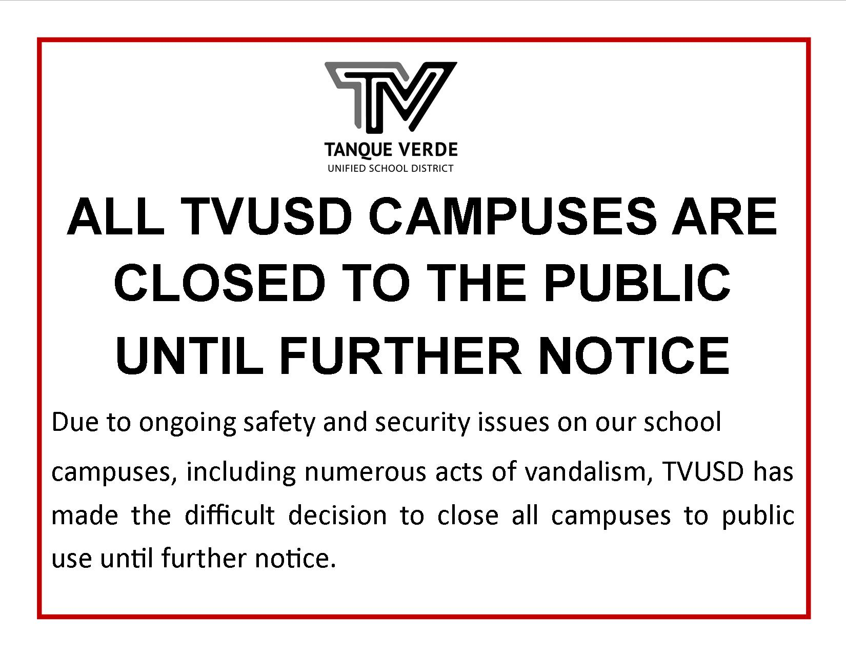 closed campus notice