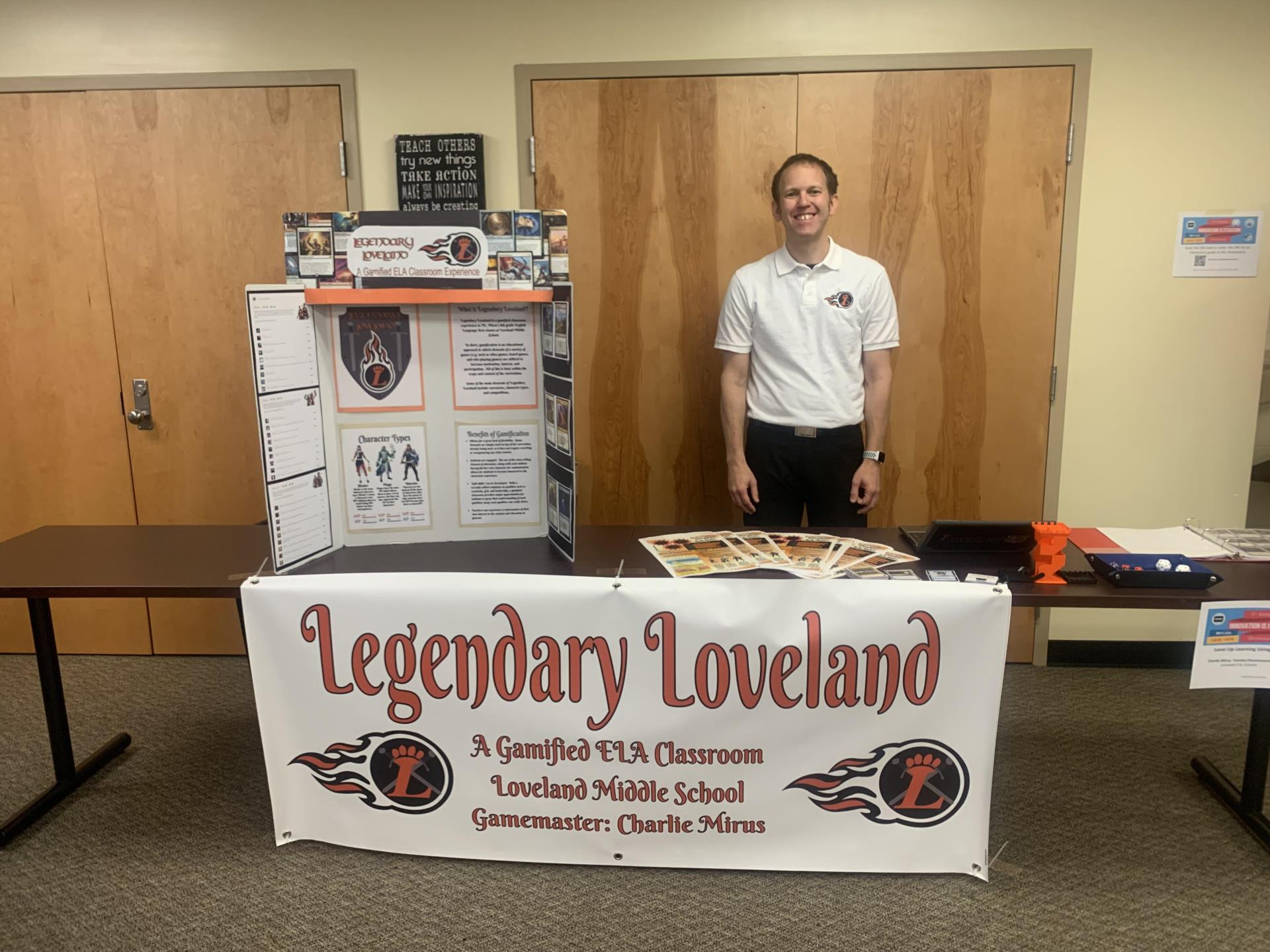 Charlie Mirus and Legendary Loveland display