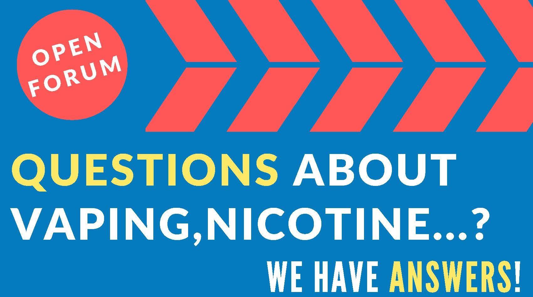 nicotine addiction open forum