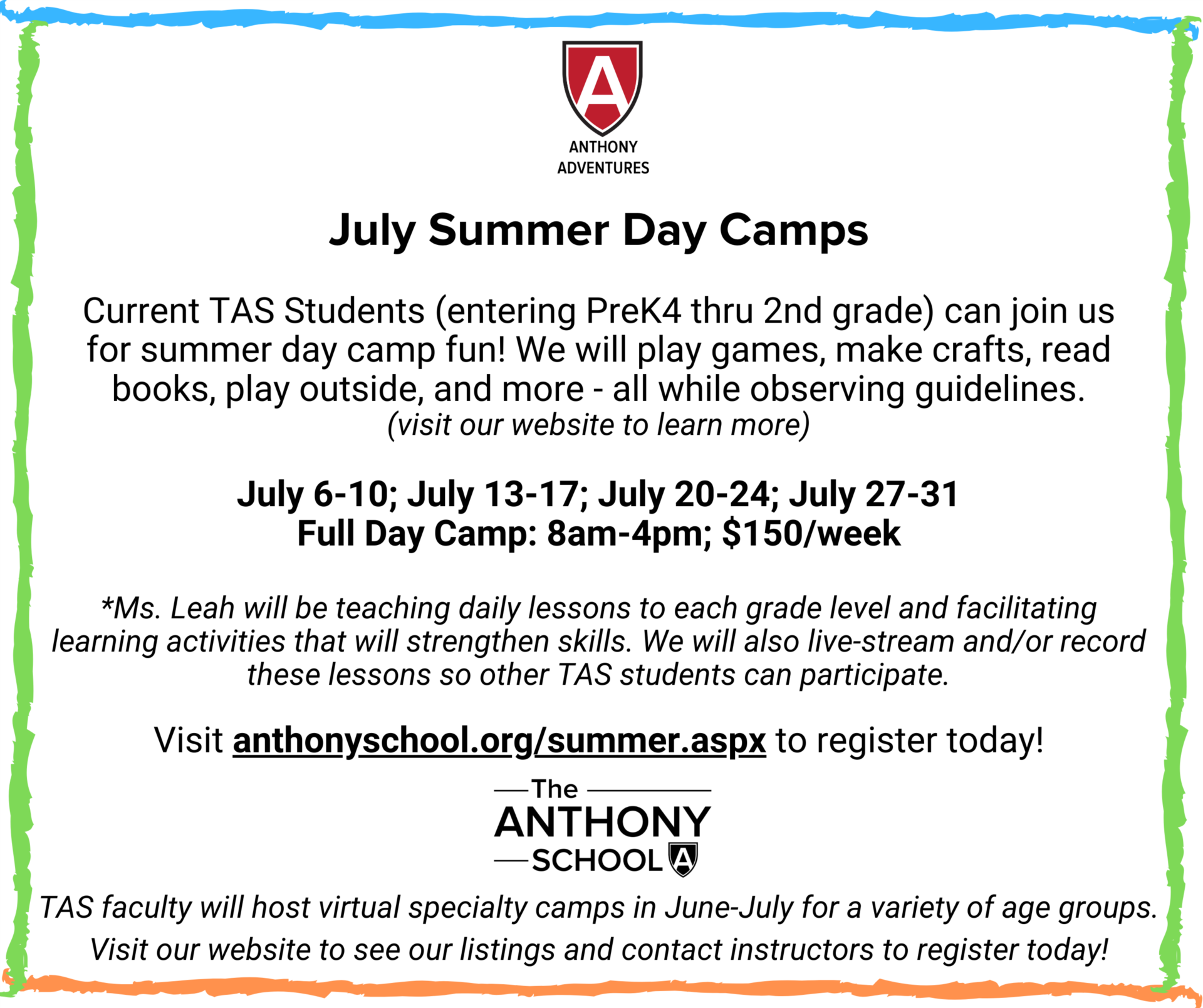 July Day Camp